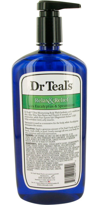 Dr Teal's Body Wash With Pure Epsom Salt 24 oz Body Wash with pure epsom salt with eucalyptus & Spearmint Women